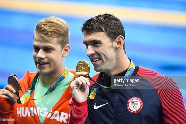 Kenderesi Tamás és Micheal Phelps a 2016-os riói olimpián
