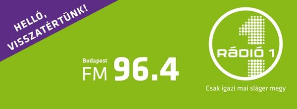 Visszatért a Rádió1 a budapesti 96.4 MHz-es frekvencián (forrás: Facebook)