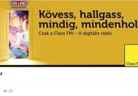 A Class FM rádió mától már csak online elérhető