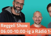 Reggeli Show a Rádió 1-en minden reggel 6 és 10 óra között (forrás: FB)